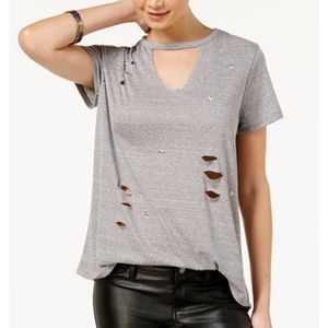 Rebellious One Juniors' Ripped T-Shirt NWOT SizeL